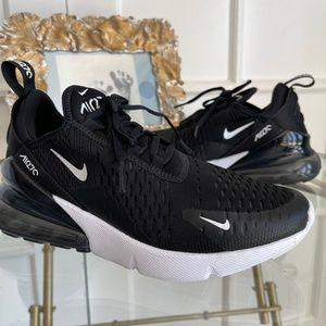Nike Air Max 270 Black White Anthracite Running Shoes WOMEN'S SZ 7.5